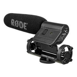 Microfone Rode VideoMic Shotgun Montado em Câmera