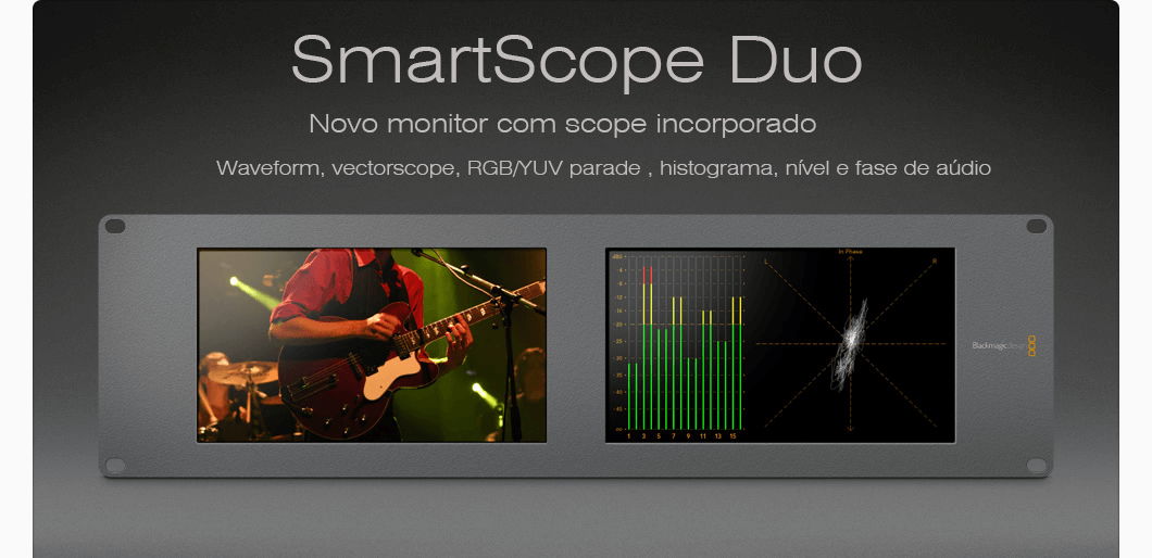 SmartScope , monitor , waveform e vectorscope