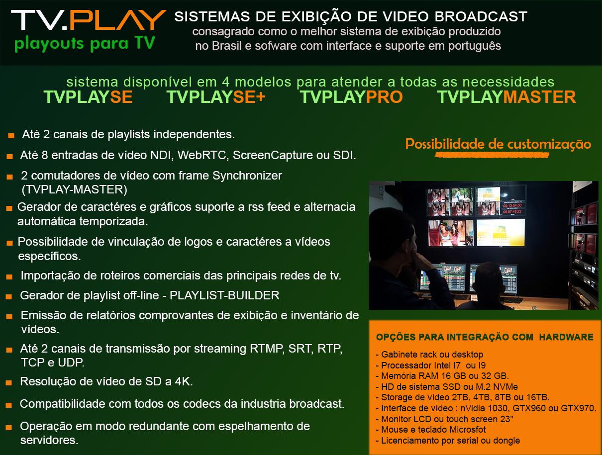 Linha de sistemas de exibição TVPLAY